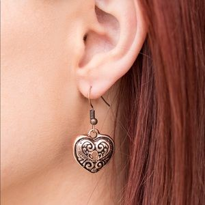 Jewelry - Throw away the Key copper earrings